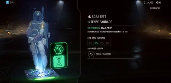Star Wars Battlefront 2 - Boba Fett Star Card