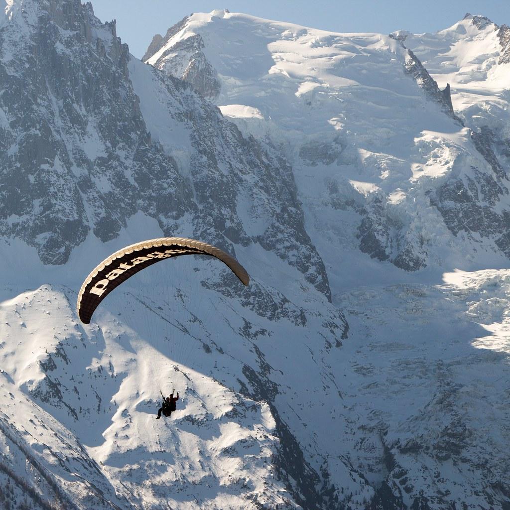 Chamonix paraglider