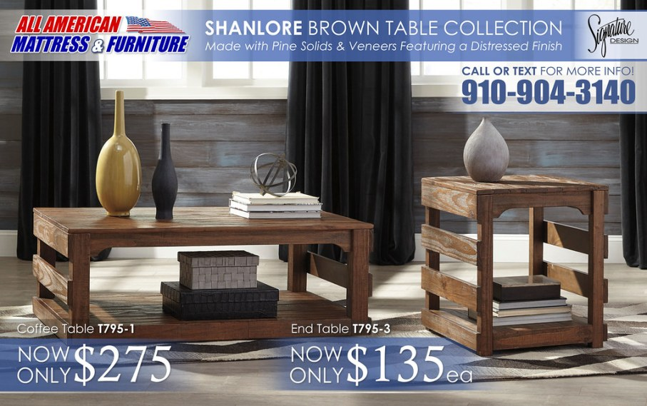 Shanlore Light Brown Table Collection T795_v2