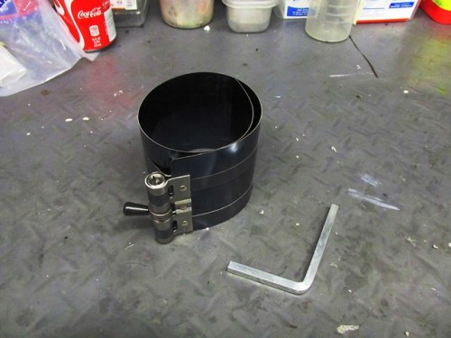 Piston Ring Compressor with Special Wrench