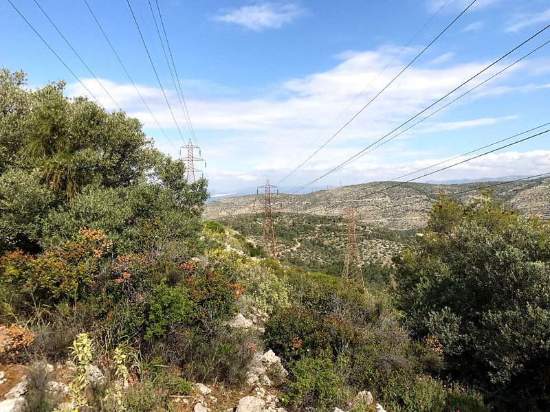 hiking on mount aigaleo in athens