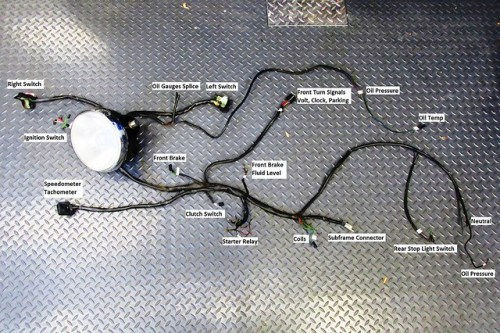 Main Wire Harness Removed with Labels On Branches