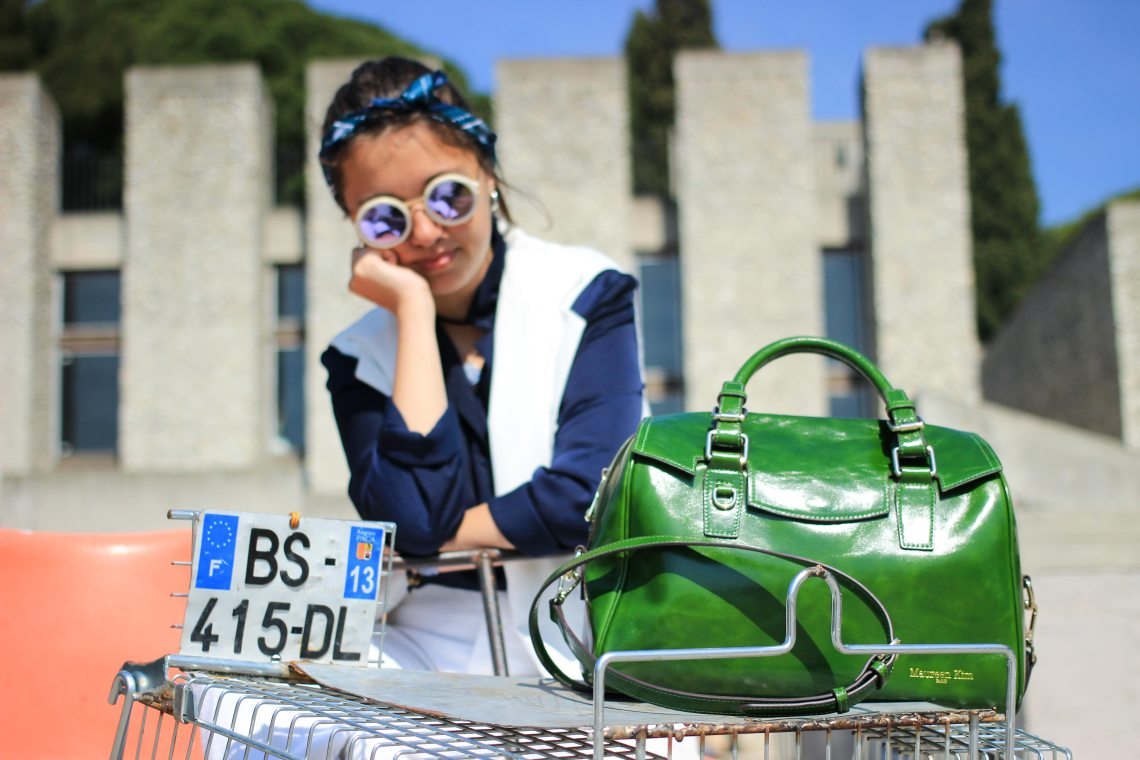 6 sac à main vert Maureen Kim