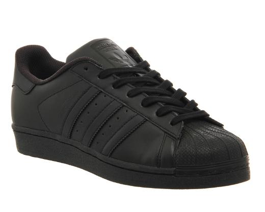 Black adidas superstar