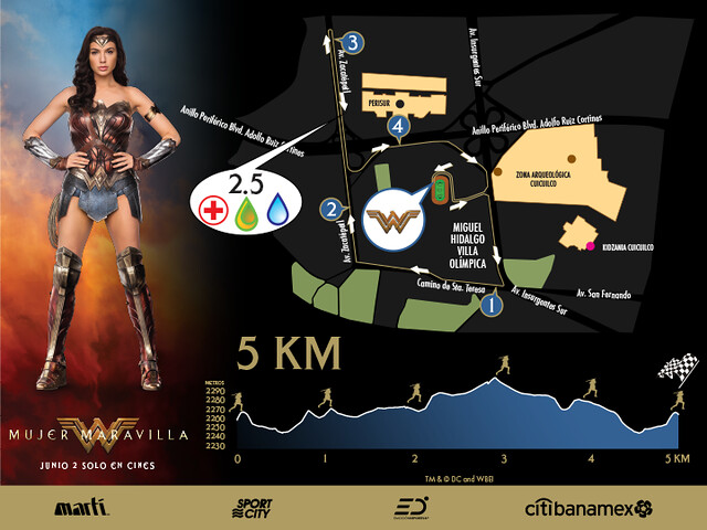 Carrera de la Mujer Maravilla 5K