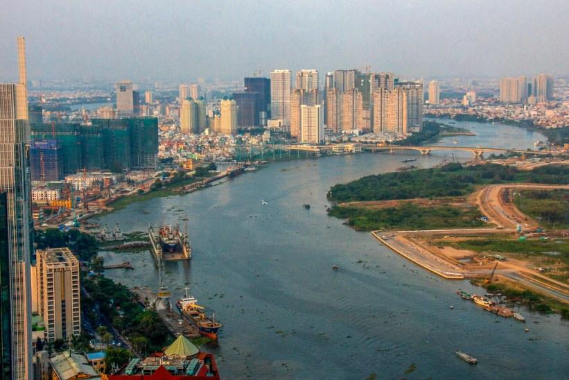 Udsigten fra Bitexco i Ho Chi Minh City - Saigon
