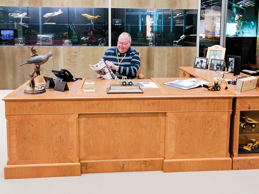 Joseph Bamford's desk