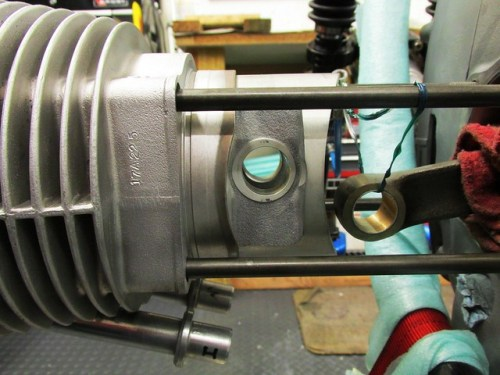 Cylinder and Piston Ready For Gudgeon Pin Installation in Piston