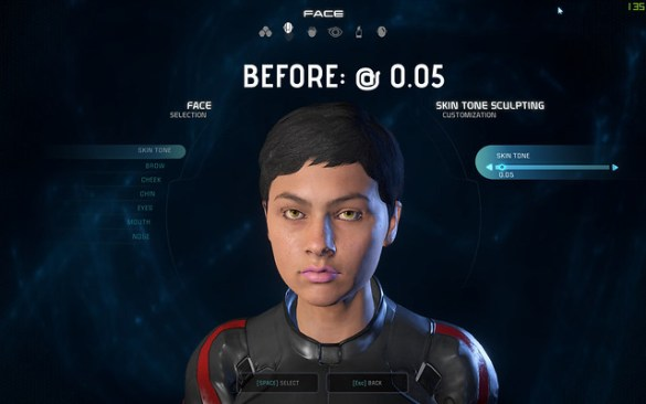 Mass Effect: Andromeda Pale Skin mod