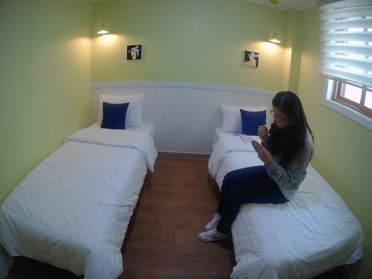 seoul hostel twin room