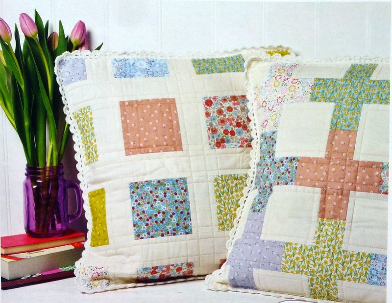 Garden Trellis Cushions (Pretty Patches June17)