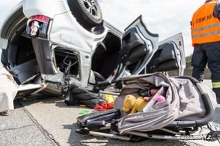 Verkehrsunfall A5 Friedrichsdorf 14.05.2017
