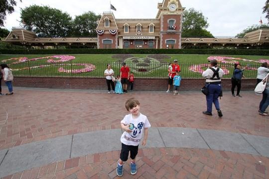 James at Disneyland