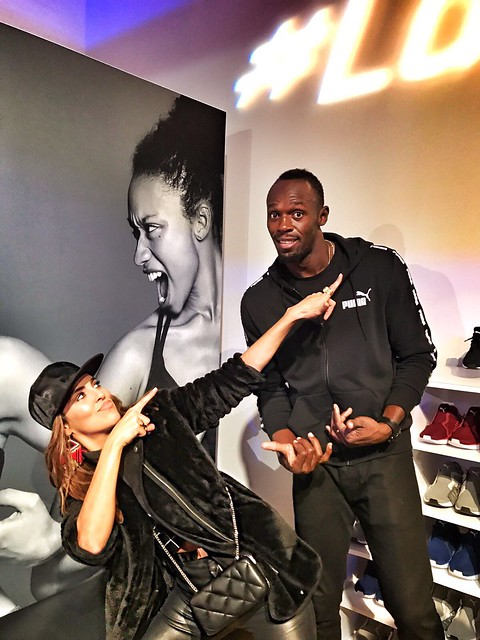 Usain Bolt y Sara Corrales Puma Netfit