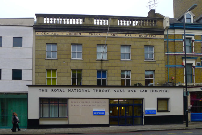 Royal National Throat Nose and Ear Hospital by Jill Browne