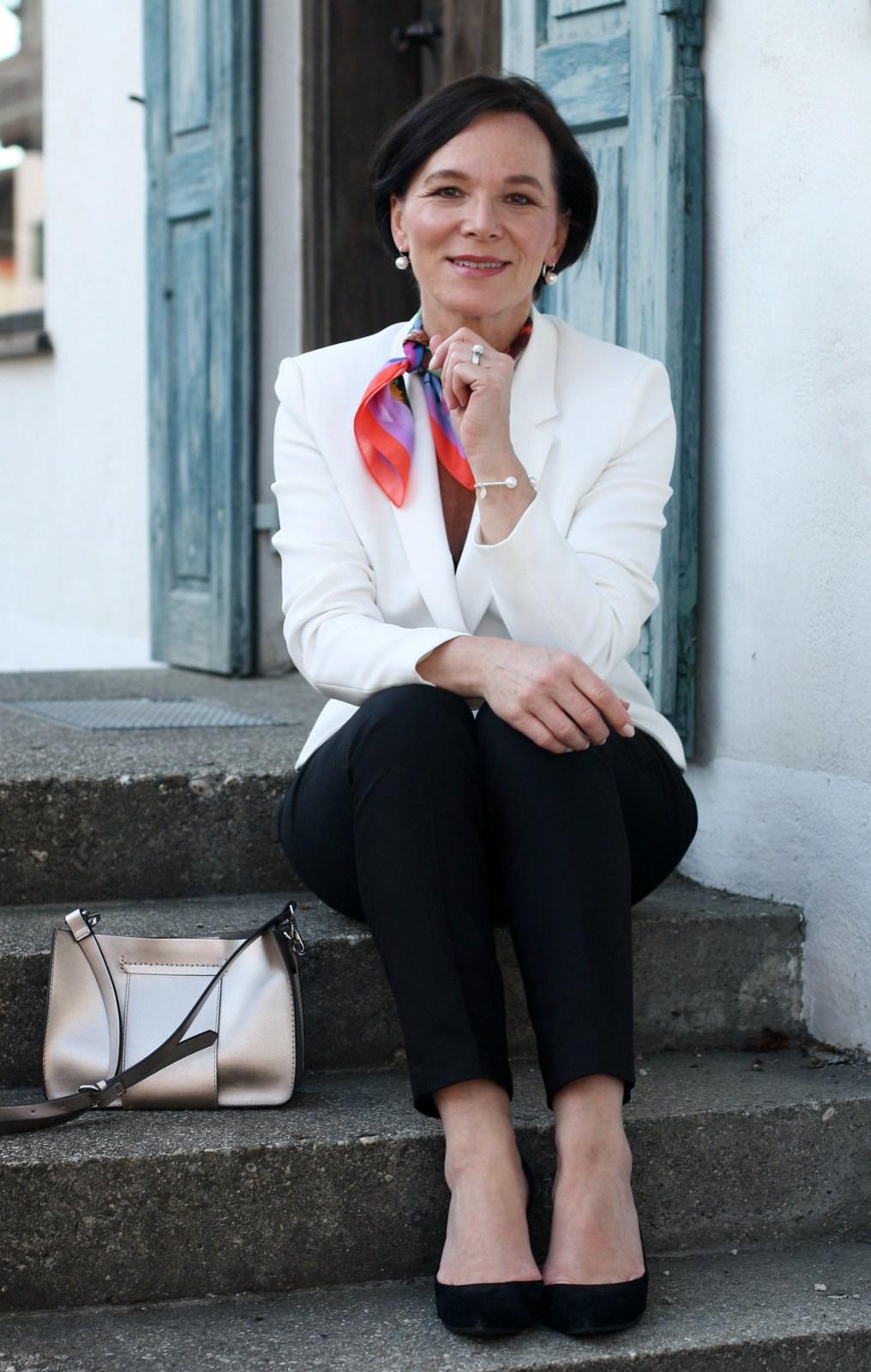 Formal Elegant White Look