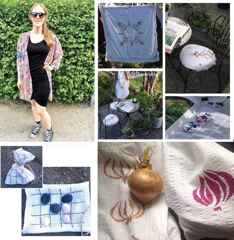 Monthly Makers tyg - kimono duk stolsdynor bokmärke sommarspel lökpåsar