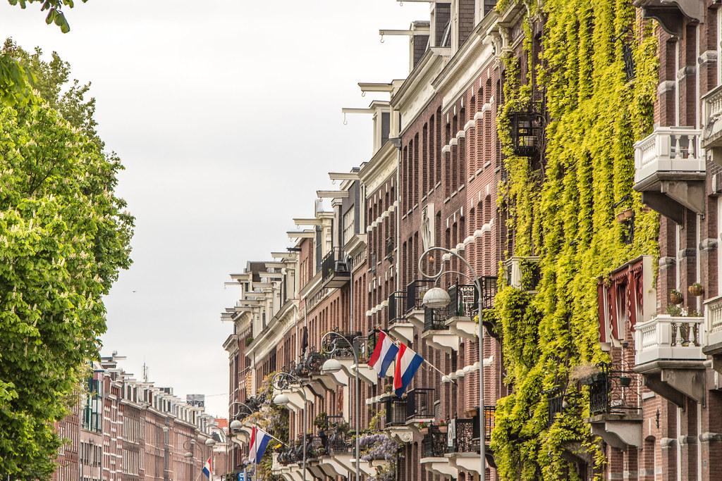 Amsterdam building faces