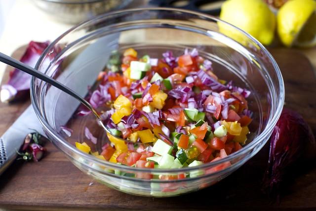 tomato-cucumber relish salad