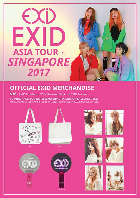 EXID Asia Tour in Singapore Merch