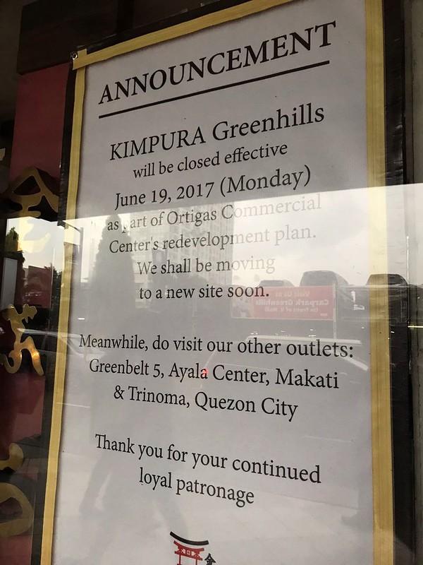 Kimpura closed