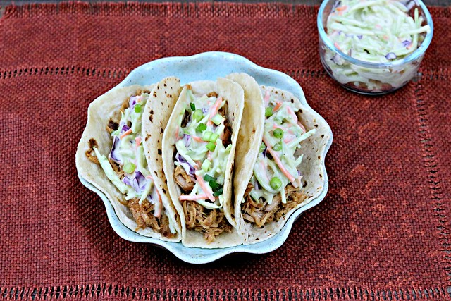 BBQ Pulled Pork Tacos with Honey Mustard Slaw