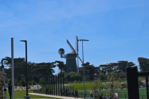 View of Windmill from soccer fields