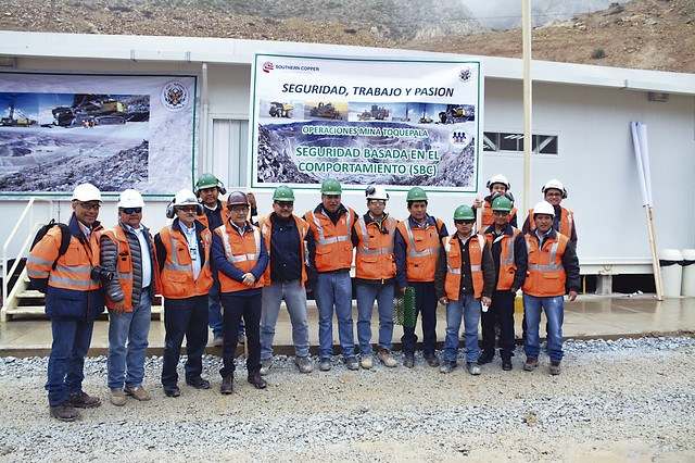 Miembros del equipo de Seguridad Basada en el Comportamiento de Operaciones Mina Toquepala.