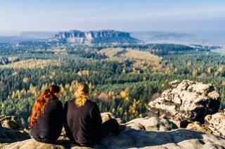 Blick zum Pfaffenstein