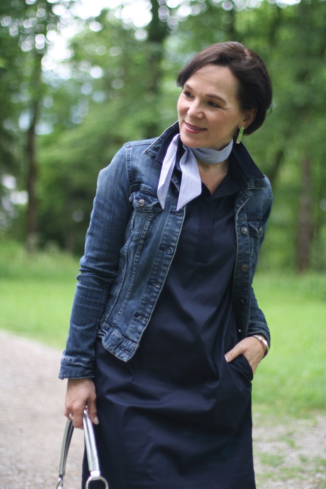 LadyofStyle COS Shirtdress Jeansjacket Weekend Look