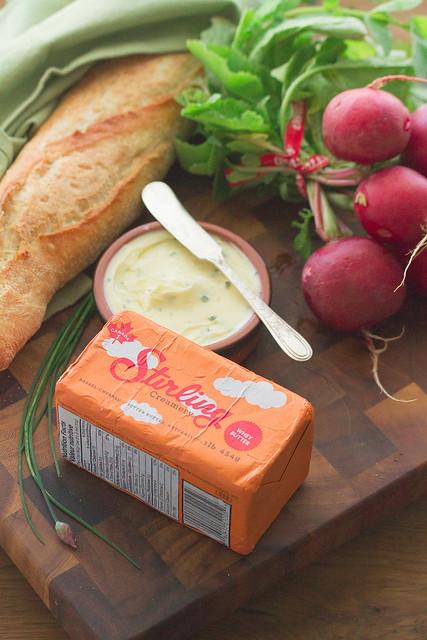 Ingredients for Radish Toasts