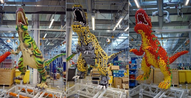 ... LEGO House, Stuart Harris, was able to reveal that the three giant  models on the three podiums in the gallery will be a DUPLO dinosaur, ...