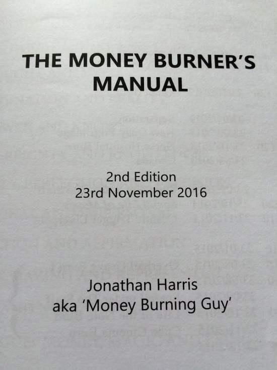 The Money Burner's Manual: A Guide to Ritual Sacrifice by Jonathan Harris