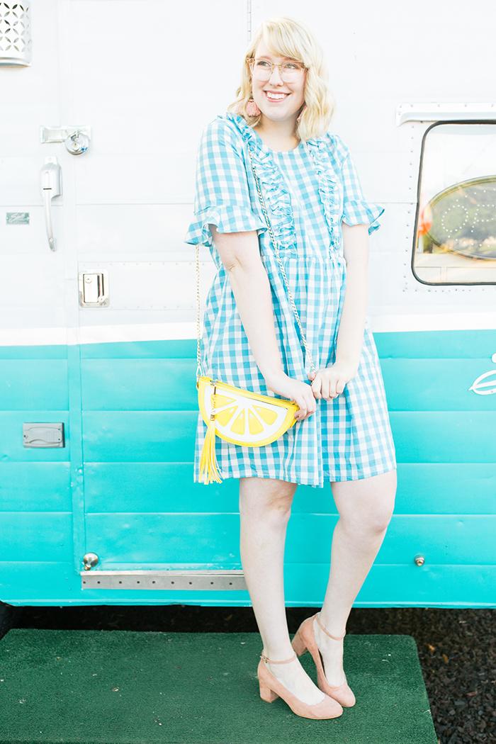 austin fashion blogger writes like a girl gingham asos dress2