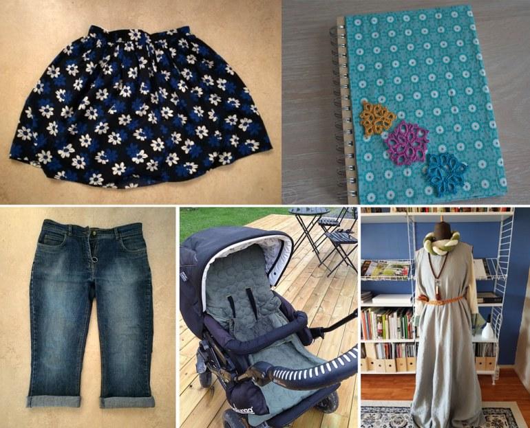 Monthly Makers tyg - kjol skjorts minnesbok åkpåse klänning