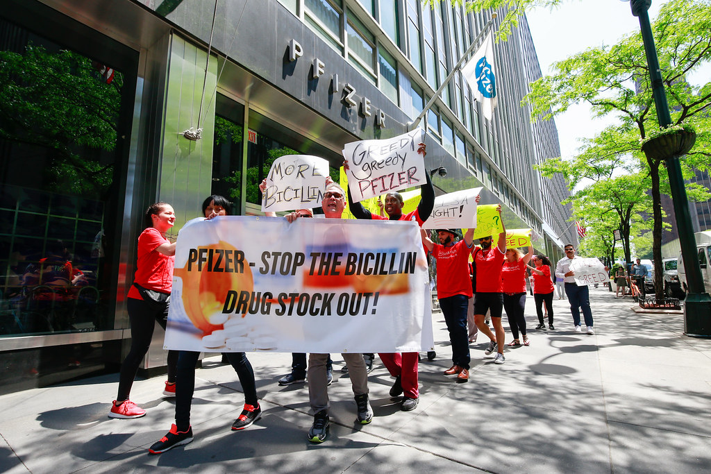 Pfizer Bicillin Stock Out Protest: New York