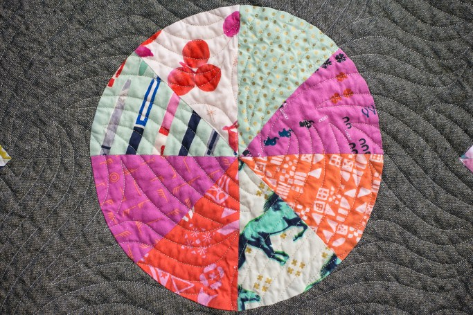 Compass after quilting