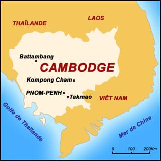 Cambodge Map