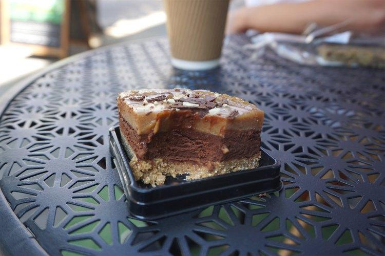 Rawligion gluten free zillionaire shortcake chocolate cake | raw vegan, gluten free, dairy free, plant based | Rawligion gluten free london | Fitzrovia
