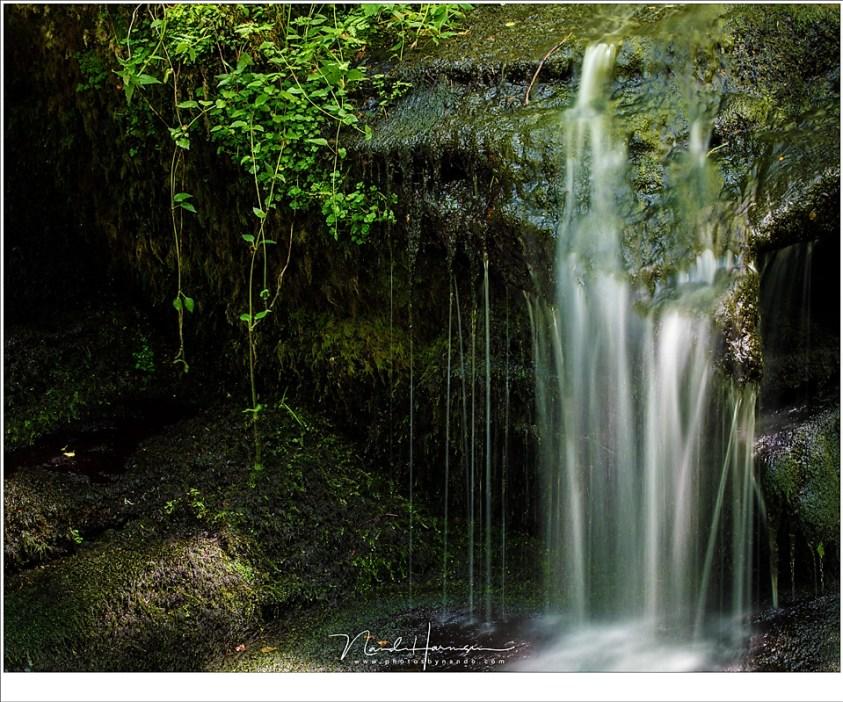 Een magische plek, verborgen in de Auvergne, waar het water door een sprookjesachtig dal naar beneden stroomt.