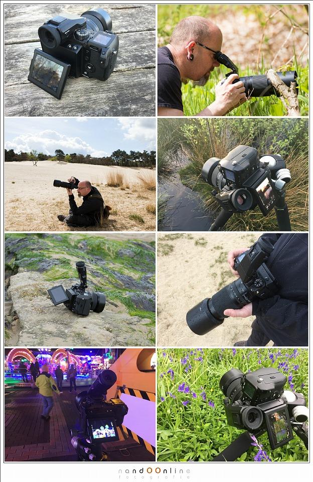 De Fujifilm GFX-50S middenformaat camera in gebruik.