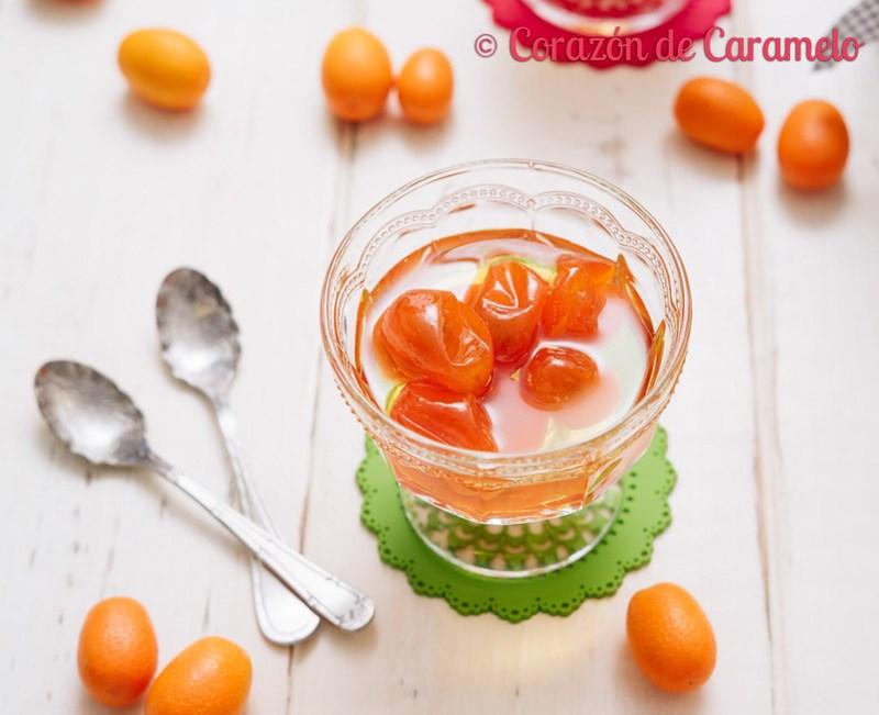 kumquats en almíbar
