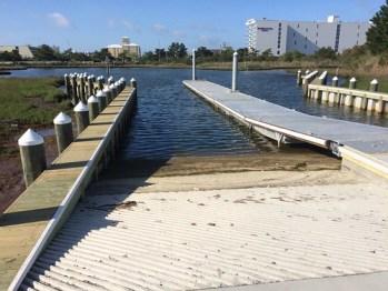 Photo of new boat ramp in Ocean City