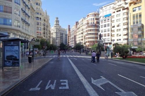Una veduta del centro di Valencia