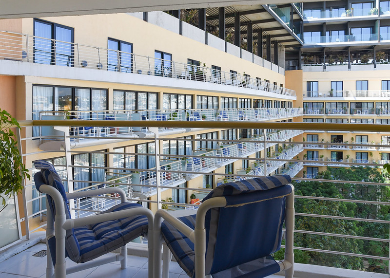 balcony of the club room at intercontinental malta