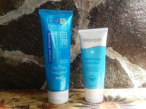 Facial Wash for Morning Routine, Hada Labo Shirojyun Face Wash and Wardag LighteninG Face Wash