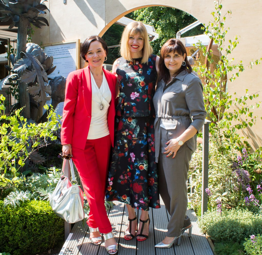 RHS Chelsea Flower Show London Madeleine Fashion Red Trouser Suit LadyofStyle 16
