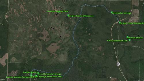 Juniper Springs Paddle Route