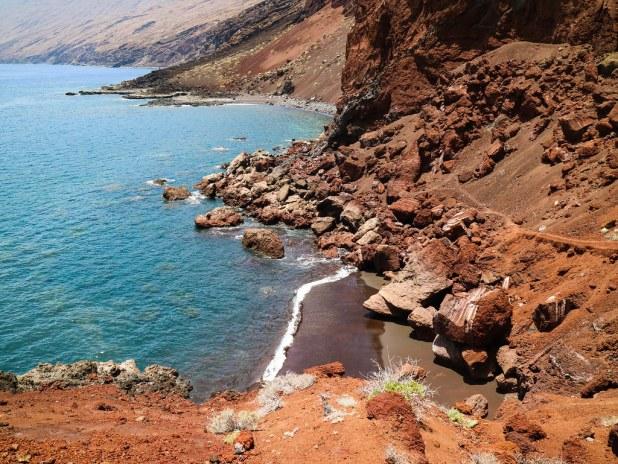Playa roja El Hierro