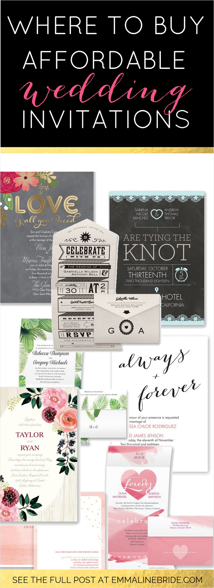 Affordable All One Wedding Invitations